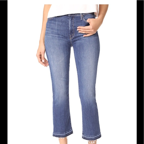 Mother Woman The Insider Crop High-rise Flared Jeans Dark Denim Size 25 Mother 760Mmyhf